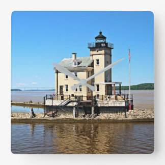 Rondout Creek Lighthouse, New York Square Wall Clock