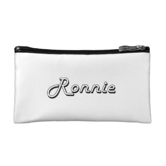 Ronnie Classic Retro Name Design Cosmetic Bags