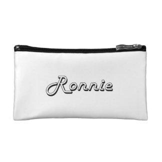 Ronnie Classic Retro Name Design Cosmetics Bags