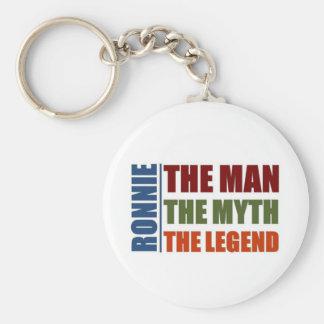 Ronnie el hombre, el mito, la leyenda llavero redondo tipo pin