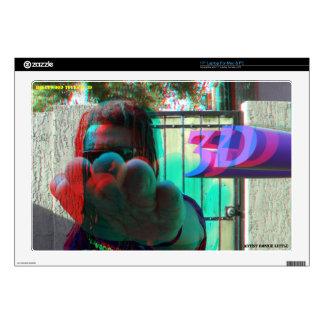 """Ronnie Little 3D Man 3D 17"""" Laptop Skin Mac & PC"""