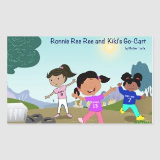 Ronnie Ree Ree and Kiki's Go Cart Sticker