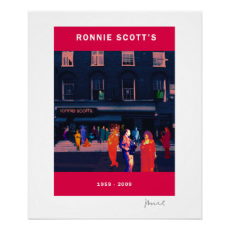 RONNIE SCOTT'S 50th ANNIVERSARY POSTER