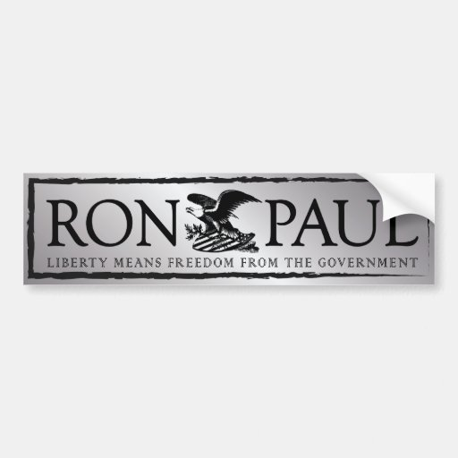 RonPaul2012 Pegatina De Parachoque