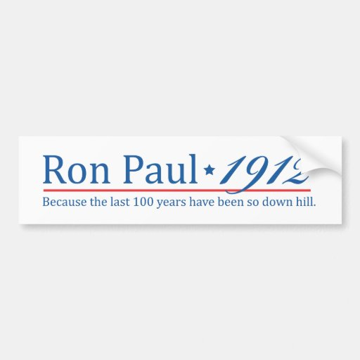 RonPaul 1912 Bumper Sticker