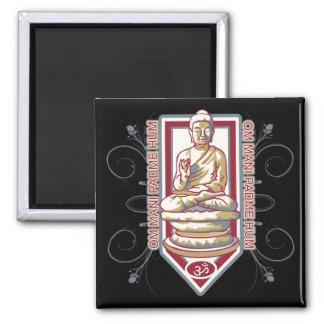 Ronquido de Buda OM Mani Padma Imán De Frigorífico