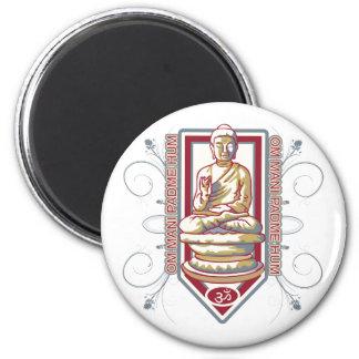 Ronquido de Buda OM Mani Padma Imán De Frigorifico