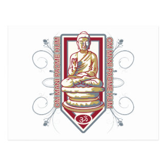 Ronquido de Buda OM Mani Padma Postales