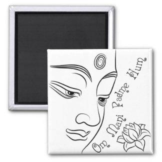 Ronquido de OM Mani Padme de la flor de Lotus Imanes De Nevera