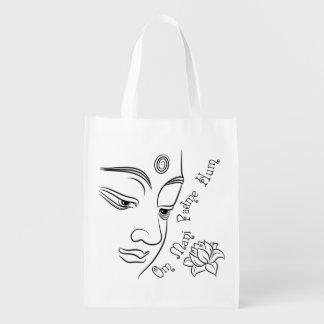 Ronquido de OM Mani Padme de la flor de Lotus Bolsa De La Compra