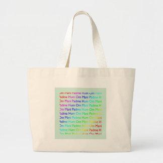 Ronquido de OM Mani Padme del arco iris (en azules Bolsas