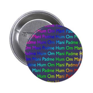 Ronquido de OM Mani Padme del arco iris en púrpura Pins