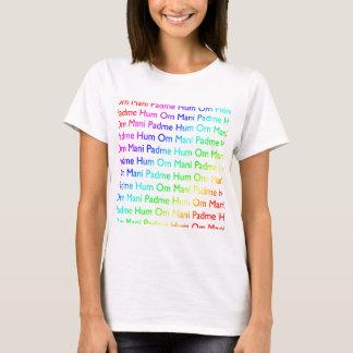 Ronquido de OM Mani Padme del arco iris Playera