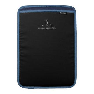 Ronquido de OM Mani Padme - estilo de lujo blanco Funda Para Macbook Air