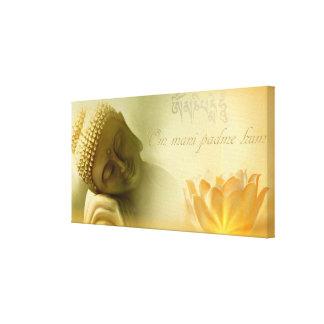 Ronquido del padme de OM mani Impresión En Lienzo Estirada