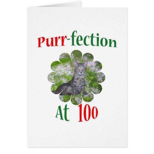 Ronroneo-fection 100 tarjeta de felicitación