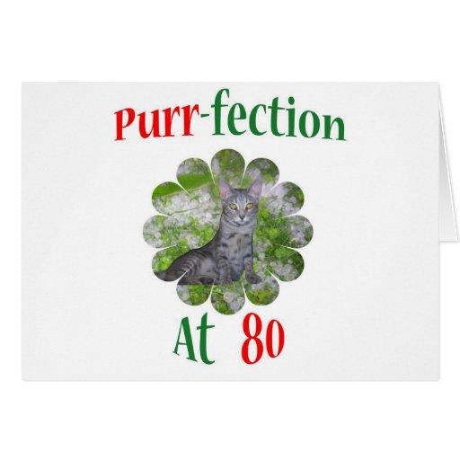 Ronroneo-fection 80 tarjeta de felicitación