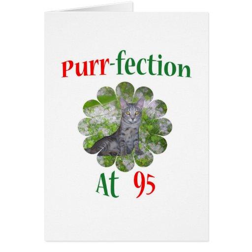 Ronroneo-fection 95 tarjeta de felicitación