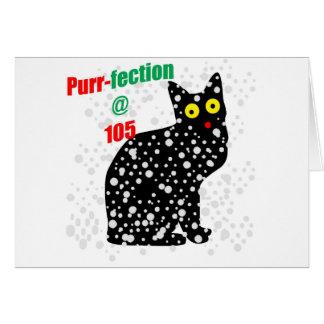 Ronroneo-fection del gato de la nieve 105 tarjeta de felicitación