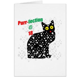 Ronroneo-fection del gato de la nieve 18 tarjeta de felicitación