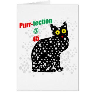 Ronroneo-fection del gato de la nieve 45 tarjeta de felicitación