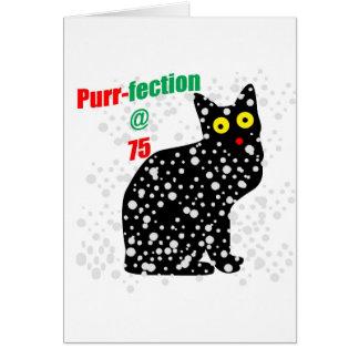 Ronroneo-fection del gato de la nieve 75 tarjeta de felicitación