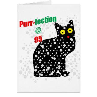 Ronroneo-fection del gato de la nieve 95 tarjeta de felicitación