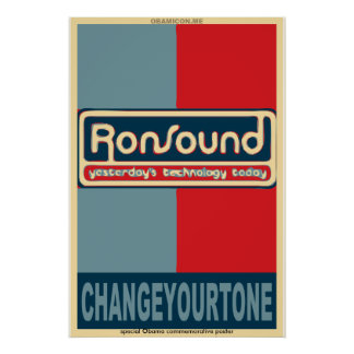 RonSound Obama-style poster