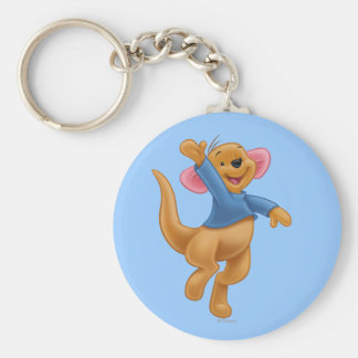 Roo 1 basic round button keychain