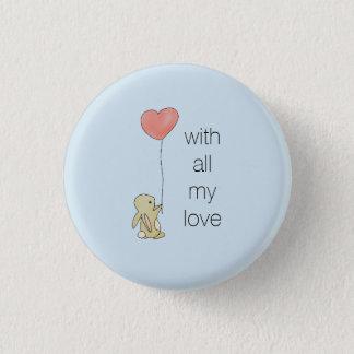Roo Bunny - Love Heart Balloon Button