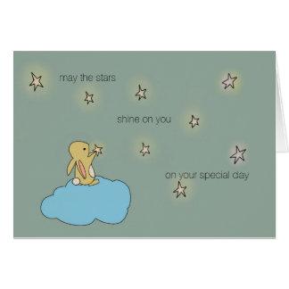 Roo Bunny - May the Stars Shine on You Card