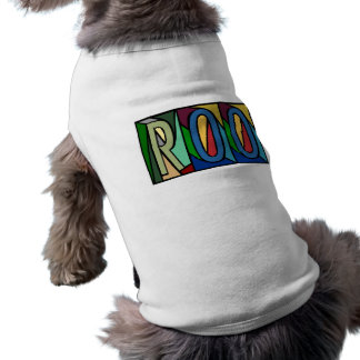 ROO ~ PERSONALIZED BIG LETTERS~ PET-WARE FOR DOGS! SHIRT