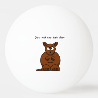 Roo this Day Angry Kangaroo Cartoon Ping-Pong Ball