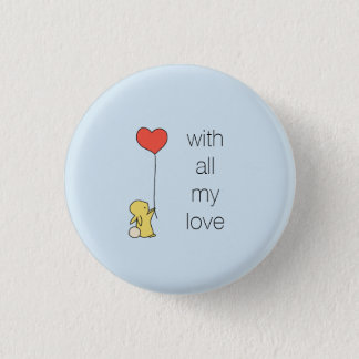 Roo - With all my love Pinback Button