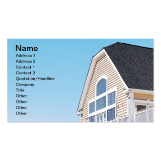 roof and exterior of a modern building business cards