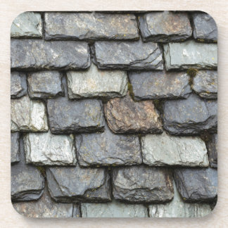 Roof cover with slate plates drink coaster