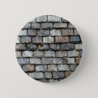 Roof cover with slate plates pinback button
