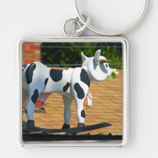Roof Cow Keychain