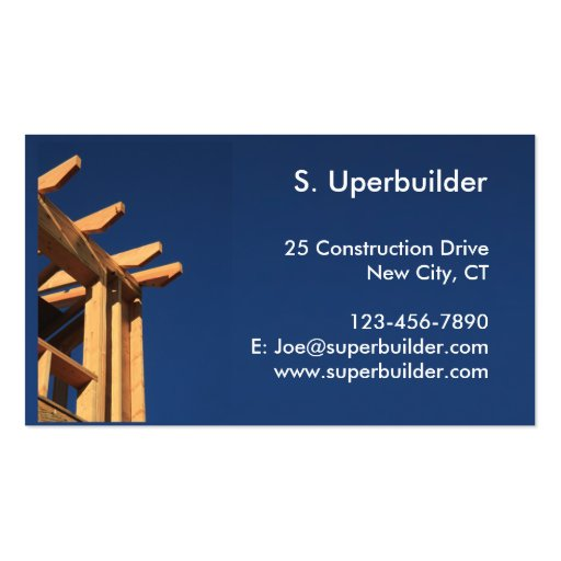 Roof Frame New Construction Business Card Templates