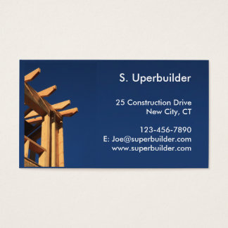 Roof Frame New Construction Business Card