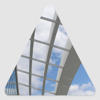 Roof of The Sky Garden, London Triangle Sticker