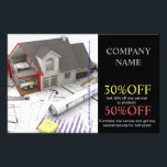 """Roof repair construction home renovation flyer<br><div class=""""desc"""">Roof repair construction home renovation business cards and promotional flyers.</div>"""