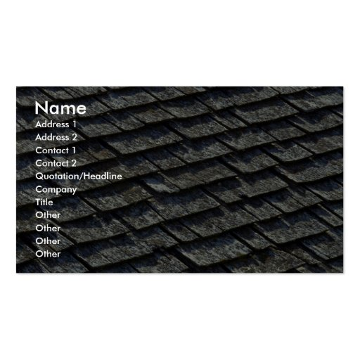 Roof shingles business card template