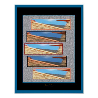 Roof Stretched by Five Collage Poster by Gretchen