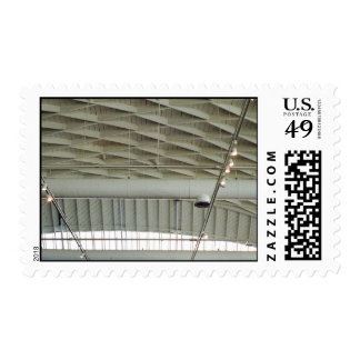 Roof Themed, A Picture Of A Ceiling Of An Indoor S Postage Stamp