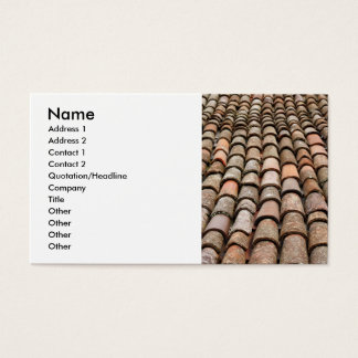 Roof tiles business card