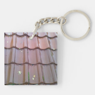 roof tiles Double-Sided square acrylic keychain