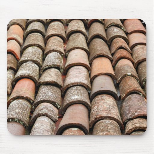 Roof tiles mouse pad
