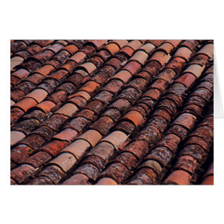 ROOF TILES ON EUROPEAN BUILDING STATIONERY NOTE CARD