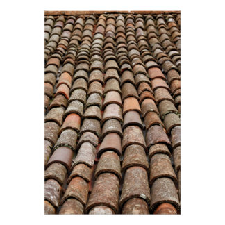 Roof tiles poster